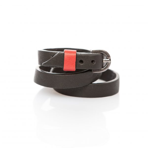 Black leather bracelet - PARTY/MONSTR